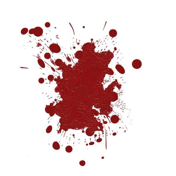 Blood Spatters 4: Spattered fresh blood stains against a white background. You may like:  http://www.rgbstock.com/photo/mT6xtaK/Blood+Spatters  or:  http://www.rgbstock.com/photo/n2UBI6e/Blood+Spatters+2