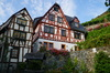 romantic half- timbered house