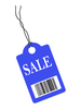 Blue Sales Tag
