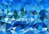 Blue polygons
