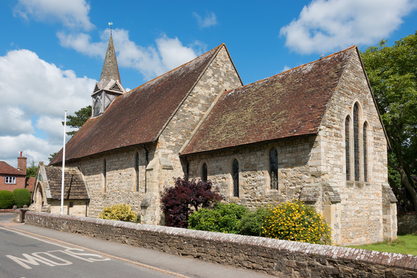 Rural village church: An old rural village church in West Sussex, England.