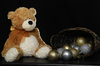 Bear and Christmas Bulbs