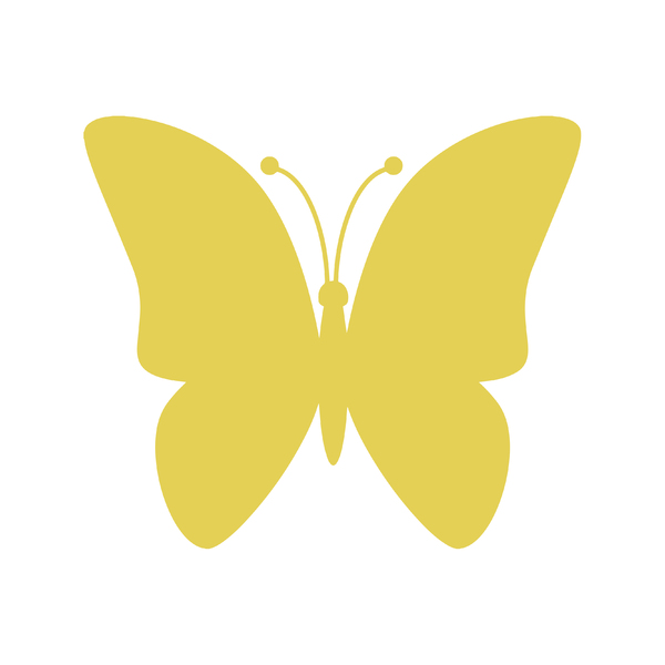 butterfly on yellow color - photo #31