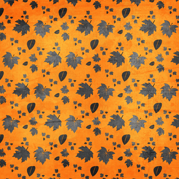 Silver Leaves Orange Texture: Textured background in autumn themed colors.  Great for your fall, Thanksgiving, or harvest theme projects, as a website background, etc.