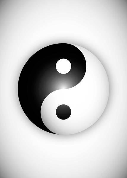 Free yin yang illustration: This was designed for a postershop but never used.