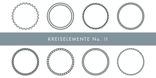 Decorative Circles: A few decorative circles in several designs.
