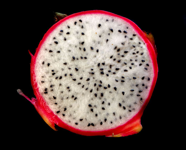 dragon fruitA2: individual ripe dragon fruit cut open & ready for consumption