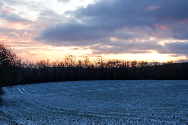 sunrise over snowed field 2: sunrise over snowed field