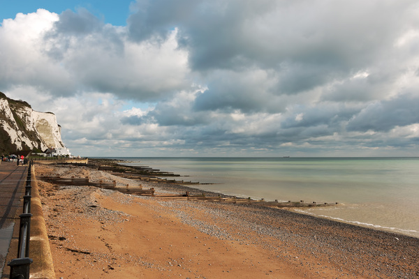 November coastline: Coastline in November at St Margaret's Bay, Kent, England.