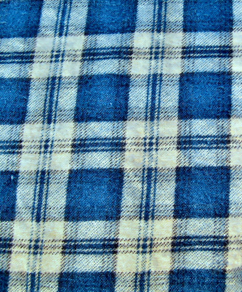 fading winter checks: fading checked used fleecy winter fabric
