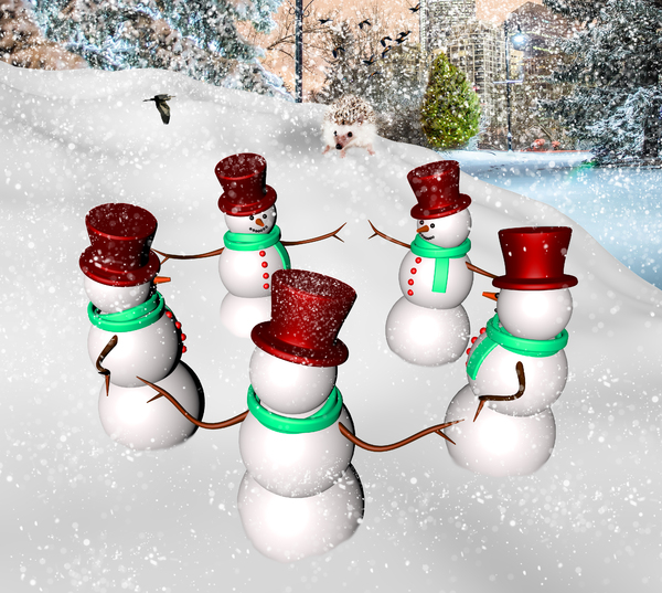dance of snowmen: dance of snowmen-CG