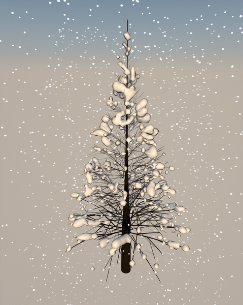 tree and snow: tree and snow