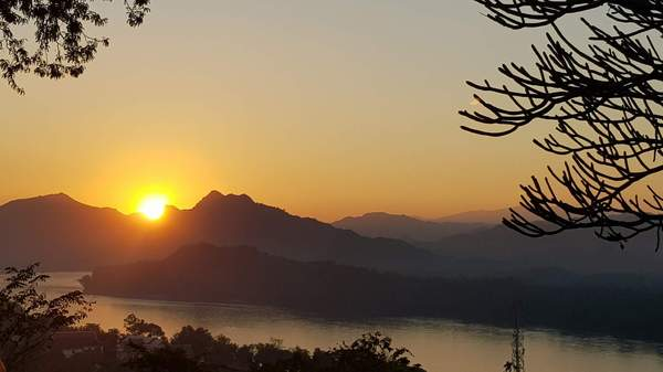 Sunset in Laos: Sunset in Laos
