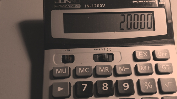 Calculator: Calcualator, done in monochrome.