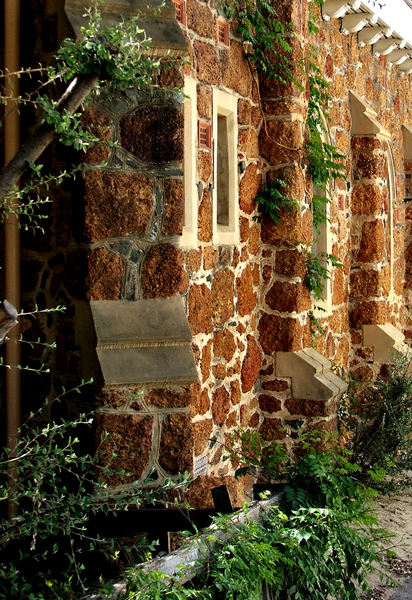 historic stone church3: historic stone walled St John's Lutheran Church, Northbridge, Perth, Western Australia