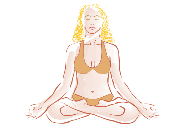 Free Yoga Illustration: Archives!!! Again!!! :)