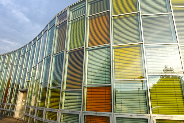 colourful blinds architecture: colourful blinds architecture 2