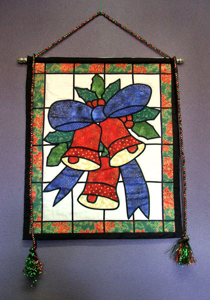 Christmas bells banner1: colourful Christmas wall hanging/banner featuring bells