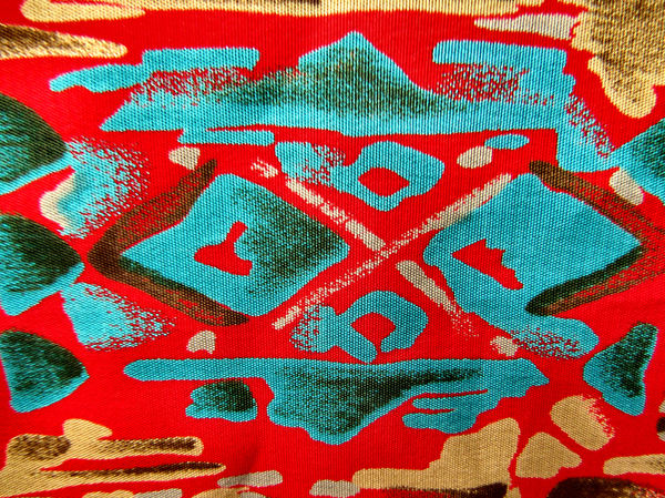 fabric red contours3: bright red contour patterned fabric