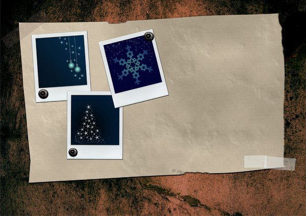 Grunge paper with christmas po: Grunge paper with christmas polaroids