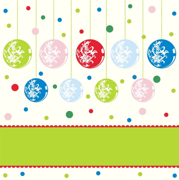 Colorfull christmascard: Colorfull christmascard