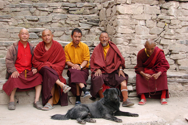 Buddhist Monks: Buddhist Monks at the Hemis Monastery, Ladakh.