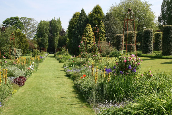 English garden: An English garden in Kent, England, in early summer.