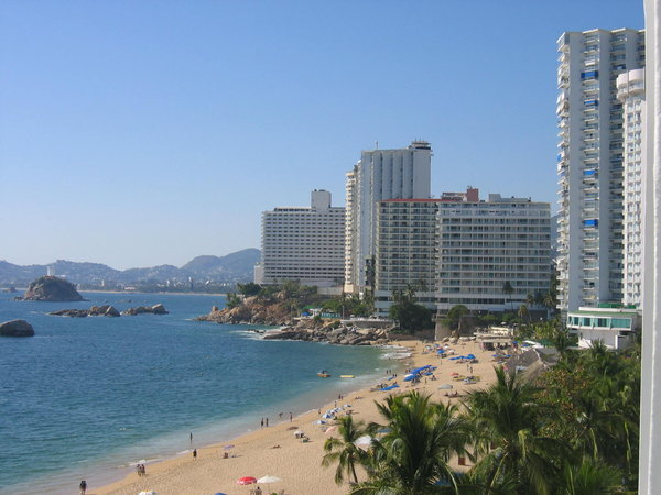 acapulco: the view from the hotel