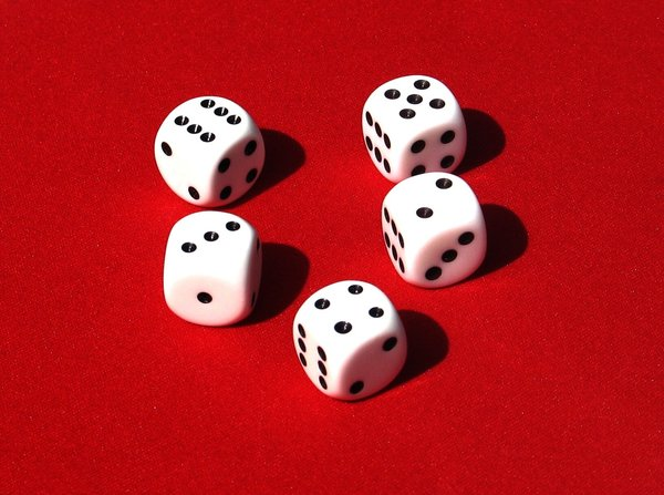 five dices: none