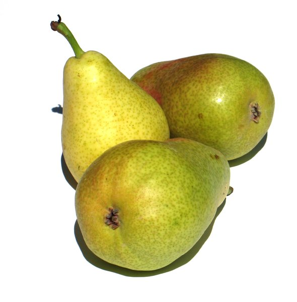 three pears: none