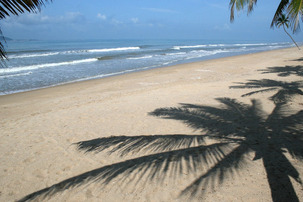 Tropical beach 3: A beach on the southern shore of Hainan Island, China.