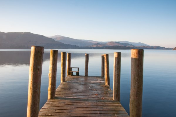 Ashness Landing Stage: landing stage on derwent water
