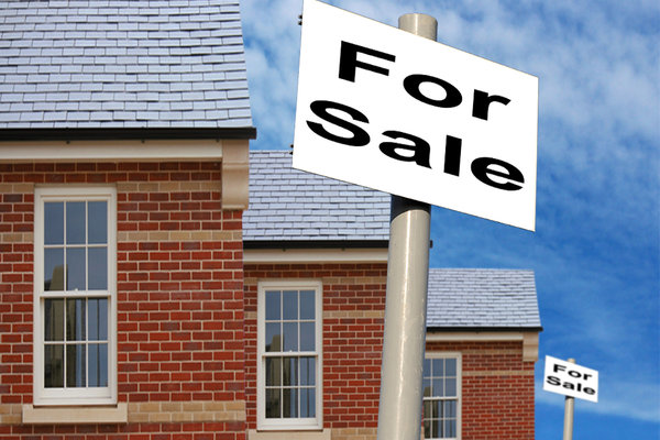 House For Sale: Houses for sale with signs