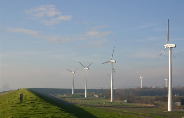 windmills in a row: windmills in a row