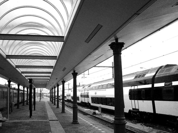 station: train at a station