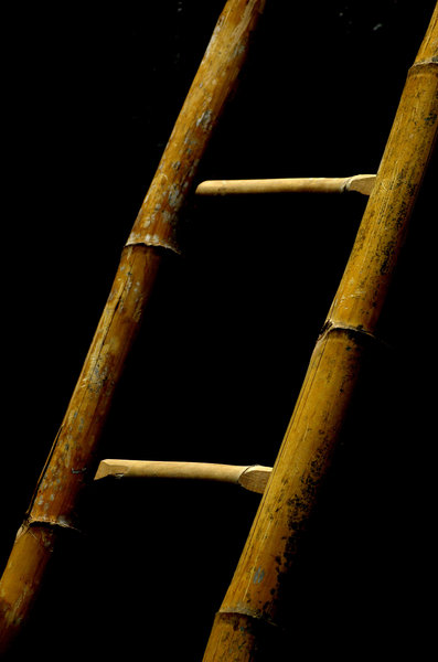 Bamboo ladder: Bamboo ladder