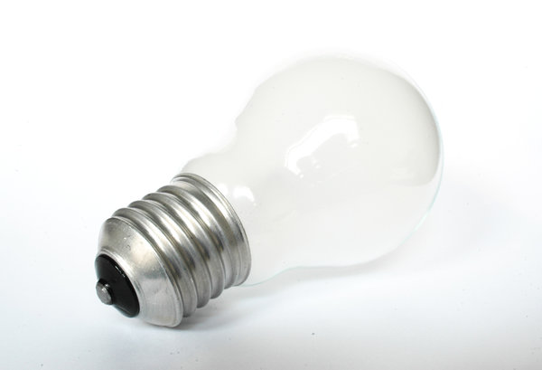 Bulb # 1.: A bulb in white light ...