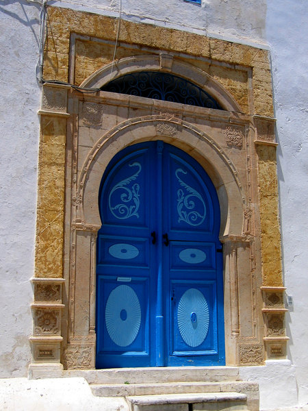 blue door: Blue door in Sidi Bou Said, Tunisia.