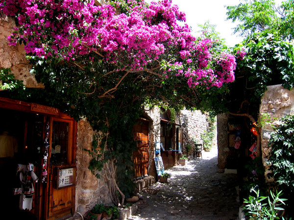 Monemvasia view: Street in Monemvasia, Greece.