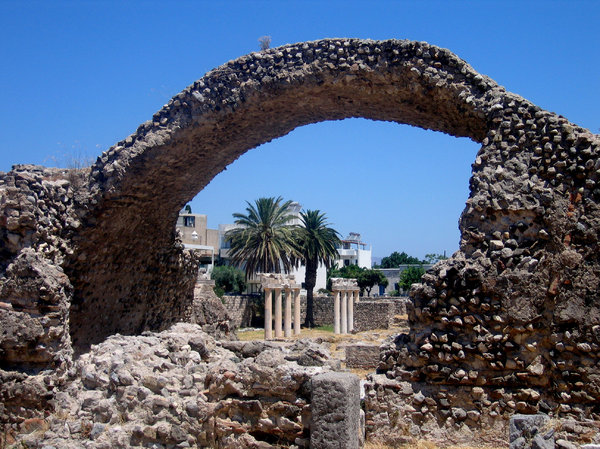 Kos arch: Ruins on Kos, Greece.