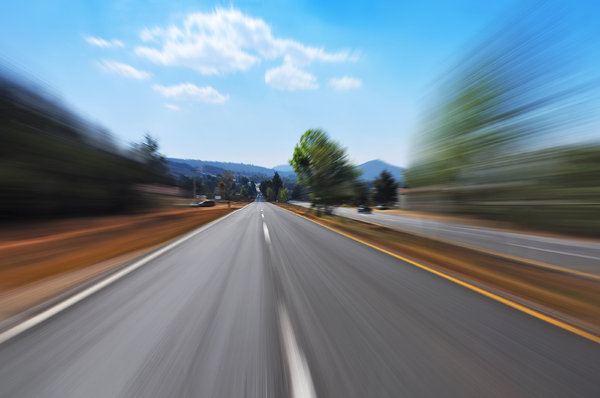 Road Blur: Shot of road blurred by speed