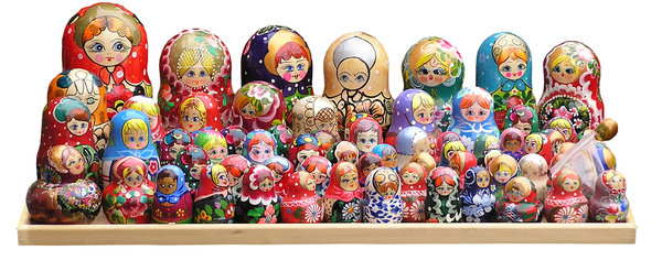 Matryoshkas: Some babushkas or matryoshkas shot in the shop.Please mail me or comment this photo if you liked or used it. Thanks for letting me know!