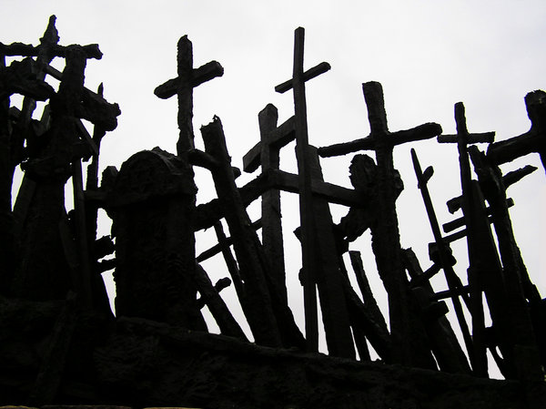 Crosses: Crosses - a part of a monument. Please mail me or comment this photo if you decide to use it. Just let me know. Thanks!I would be extremely happy to see the final work even if you think it is nothing special! For me it is (and for my portfolio)!