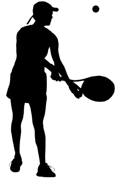 Tennis player: Tennis player silhouette.Please comment this shot or mail me if you found it useful. Just to let me know!I would be extremely happy to see the final work even if you think it is nothing special! For me it is (and for my portfolio)!