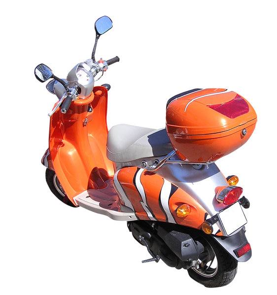Scooter: Orange scooter.Please comment this shot or mail me if you found it useful. Just to let me know!I would be extremely happy to see the final work even if you think it is nothing special! For me it is (and for my portfolio)!