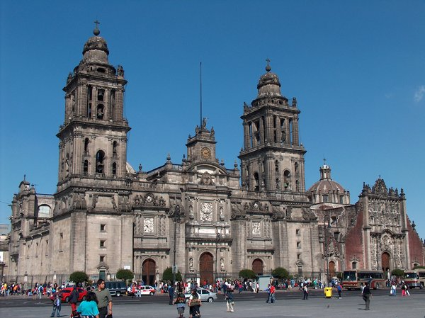 Mexico City scenes 1: Catedral, Mexico City landmarks.