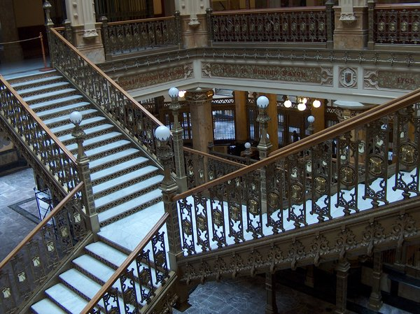 Mexico City scenes 10: Interior of Palacio Postal (Postal Palace), Mexico City