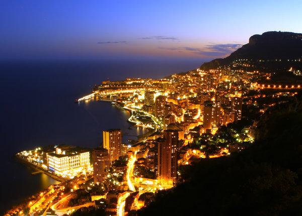 Monte Carlo Lights: Night scene of Monte Carlo
