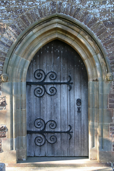 Church door: An old church door in West Sussex, England.
