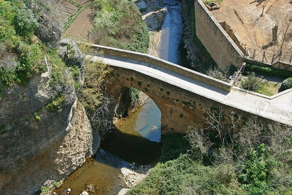 Old bridge: One of the three bridges in Ronda, Spain.